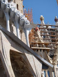 Construction at Sagrada Familia in Barcelona Spain Royalty Free Stock Image