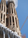 Construction at Sagrada Familia in Barcelona Royalty Free Stock Image