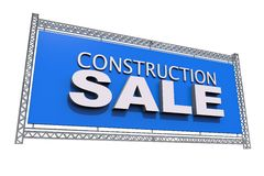 Construction Sale Isolated Royalty Free Stock Images