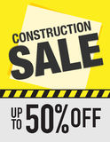 Construction sale sign Stock Photos