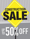 Construction Sale sign Royalty Free Stock Image