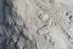 Construction sand pile material. Sand pile prepared for construction Stock Photography