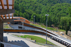 Construction of Sanki Luge Center for Winter Olympics 2014 Stock Image
