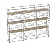 Construction scaffolding - 3 floors Royalty Free Stock Photo