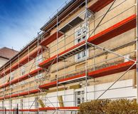 Construction scaffolding Stock Images