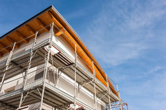 Construction scaffolding of a building under renovation. Stock Photo