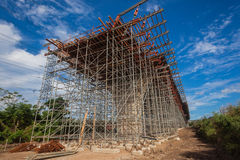Construction Scaffolding Highway  Royalty Free Stock Photos