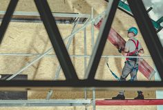 Construction Scaffolding Job royalty free stock photography