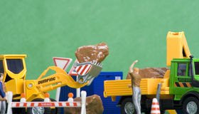 Construction Scene 5. Toys Stock Photography