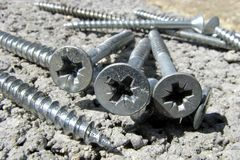 Construction screws Stock Photo