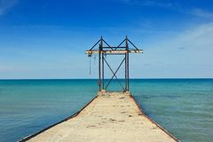 Construction on a Sea Royalty Free Stock Photo