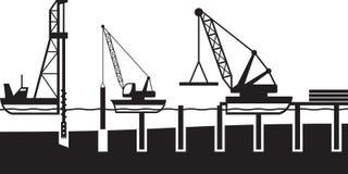 Construction of sea port Stock Image