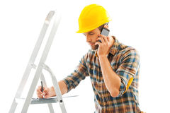 Construction is a serious business. Stock Image