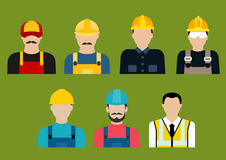 Construction and service professions avatars Royalty Free Stock Photo