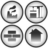 Construction set with industrial icons Royalty Free Stock Photography