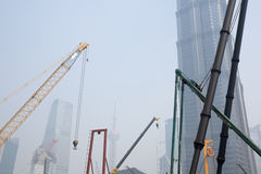 Construction Shanghai city Royalty Free Stock Photography