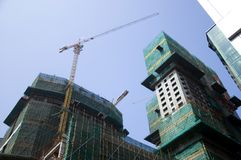Construction in Shenzhen, China Royalty Free Stock Images