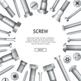 Construction Shop Advertising Banner With Bolts Royalty Free Stock Image