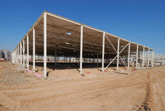 Construction of shopping center. Construction site of shopping center Royalty Free Stock Images