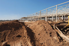 Construction of shopping center. Construction site of shopping center Stock Image