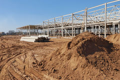 Construction of shopping center. Construction site of shopping center Royalty Free Stock Photography