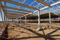 Construction of shopping center. Construction site of shopping center Royalty Free Stock Image