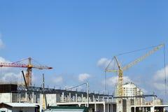 Construction of a shopping center Stock Photo