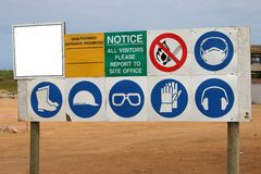 Construction Sign Stock Images