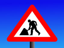 Construction sign Royalty Free Stock Photography