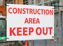 Construction Sign Royalty Free Stock Photo