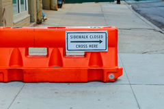 Construction sign and cones Stock Photography