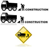 Construction sign Stock Photo