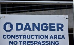 Construction Sign. Located in Fort Worth, Texas Stock Photography