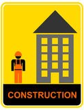 Construction - sign, pictogram Stock Photography