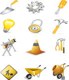 Construction sign vector Royalty Free Stock Photos
