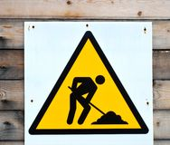 Construction Sign Stock Photography