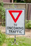 Construction Sign, Yield Royalty Free Stock Photography
