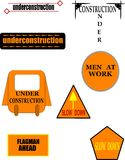 Construction signage icons Royalty Free Stock Photography