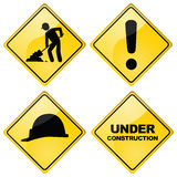 Construction signs Royalty Free Stock Image