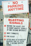 Construction Signs Blastiing Signals Royalty Free Stock Photos