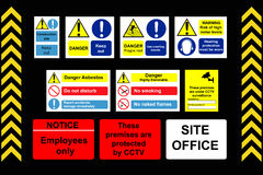 Construction Signs building site Stock Photography