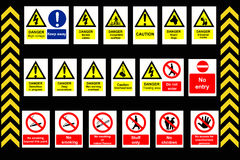 Construction Signs building site Stock Photos