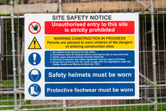 Construction Signs building site Royalty Free Stock Photos
