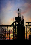 Construction silhouette Stock Images