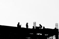 Construction silhouette Royalty Free Stock Images