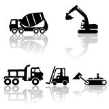 Construction silhouettes Stock Image