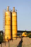 Construction silo Royalty Free Stock Photo