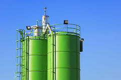 Construction Silos Stock Image