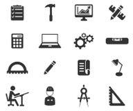 Construction simplement des icônes Photos libres de droits
