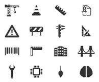 Construction simplement des icônes Photo libre de droits
